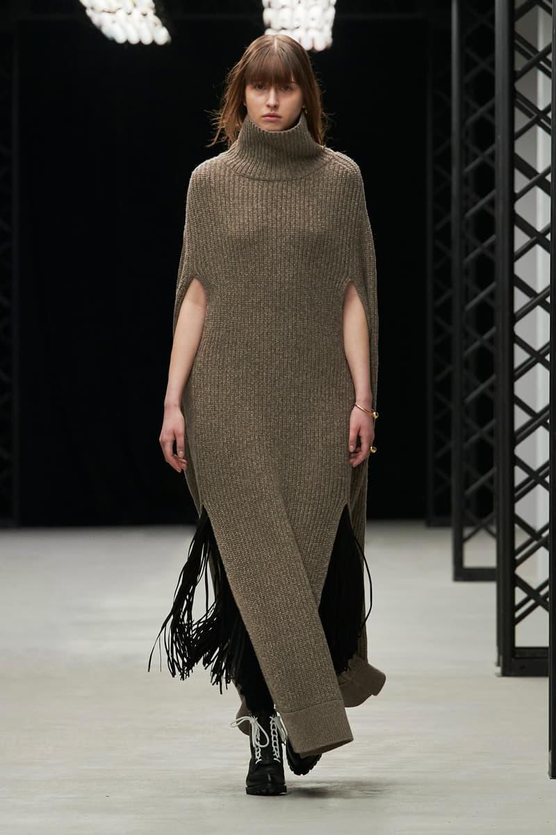 HYKE Fall/Winter 2020 Collection Runway Show Poncho Dress Grey