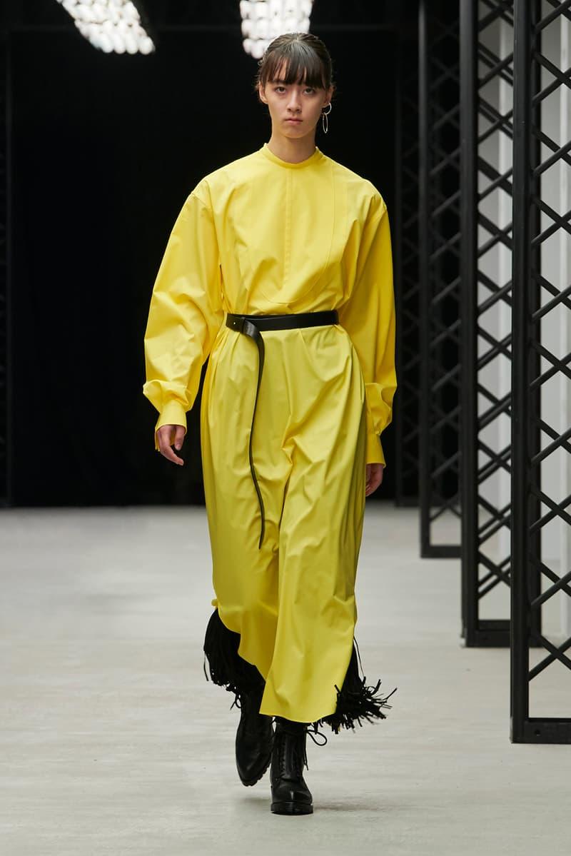HYKE Fall/Winter 2020 Collection Runway Show Dress Yellow