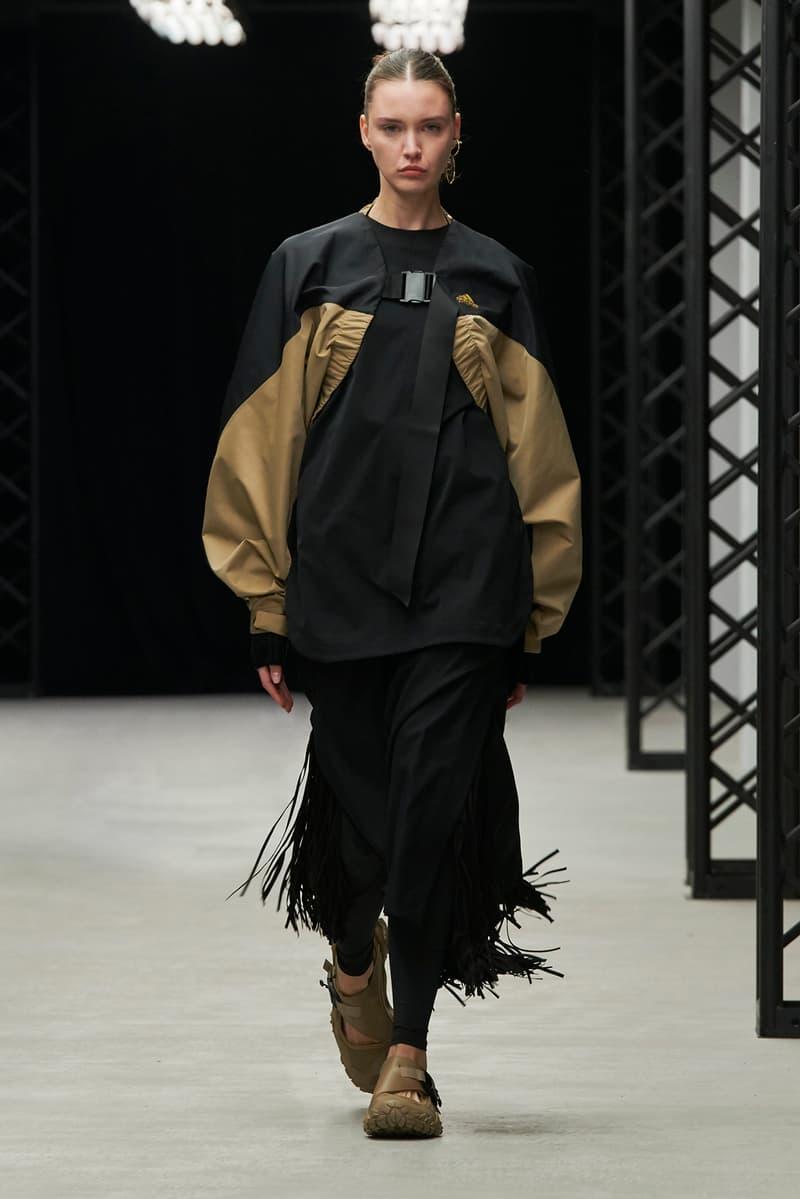HYKE Fall/Winter 2020 Collection Runway Show adidas top