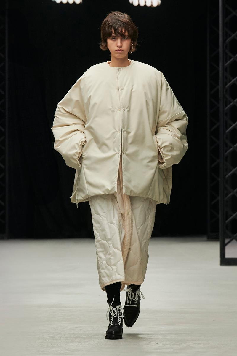HYKE Fall/Winter 2020 Collection Runway Show Nylon Jacket White