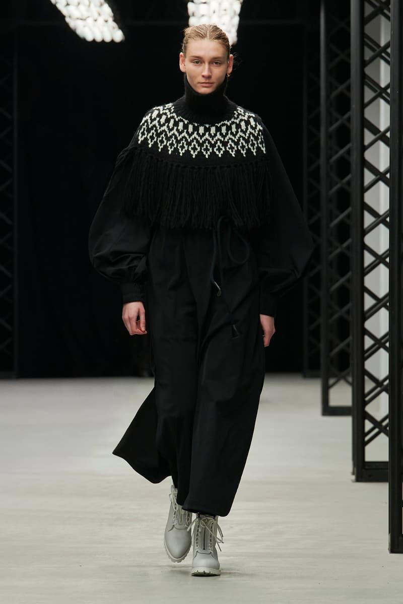 HYKE Fall/Winter 2020 Collection Runway Show Dress Black