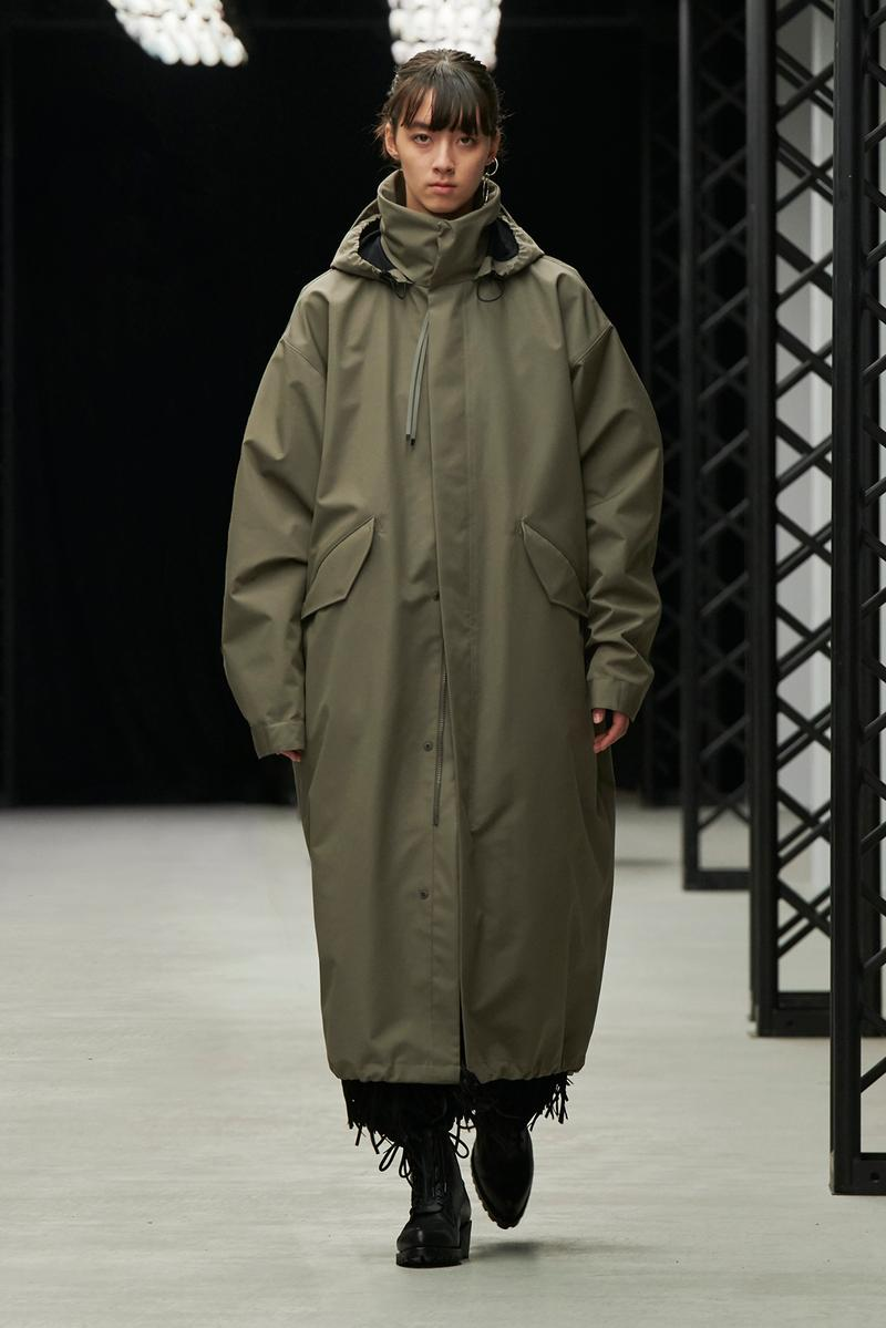 HYKE Fall/Winter 2020 Collection Runway Show Coat Grey