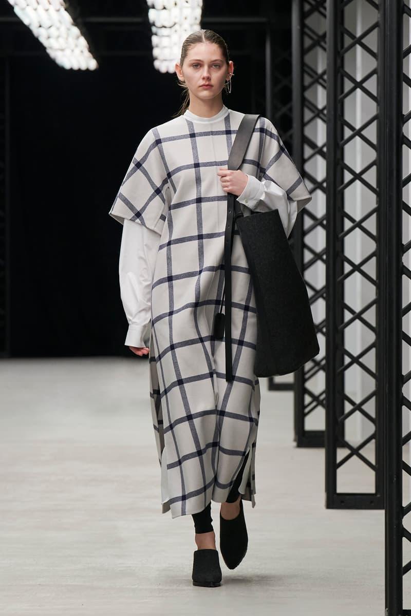 HYKE Fall/Winter 2020 Collection Runway Show Striped Dress