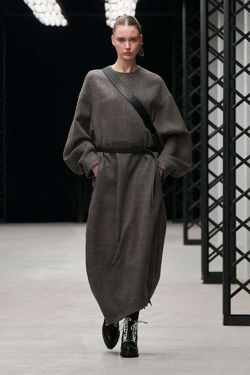 HYKE Fall/Winter 2020 Collection Runway Show Dress Grey