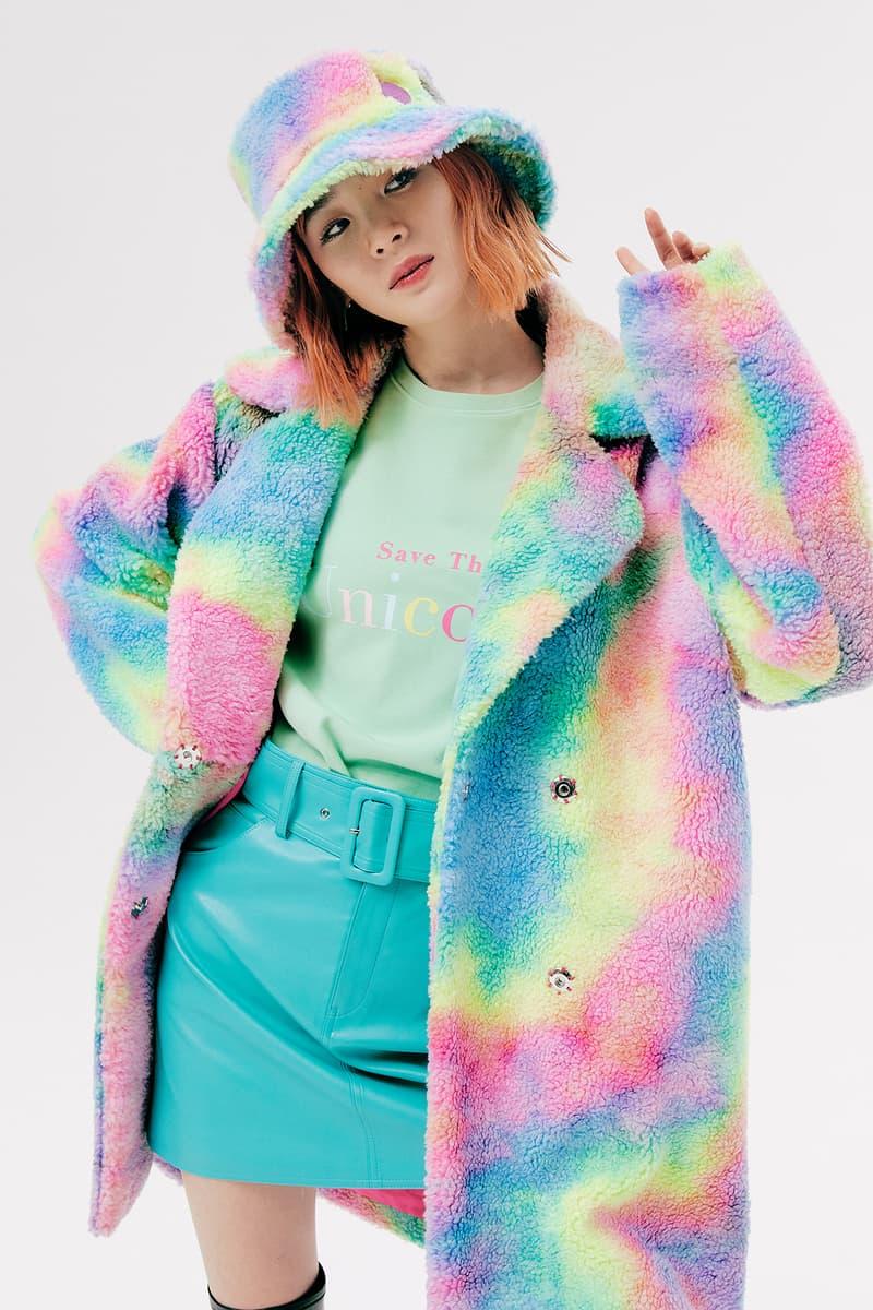 IRENEISGOOD Label Fall/Winter 2020 Collection Lookbook Rainbow Tie Dye Coat Bucket Hat