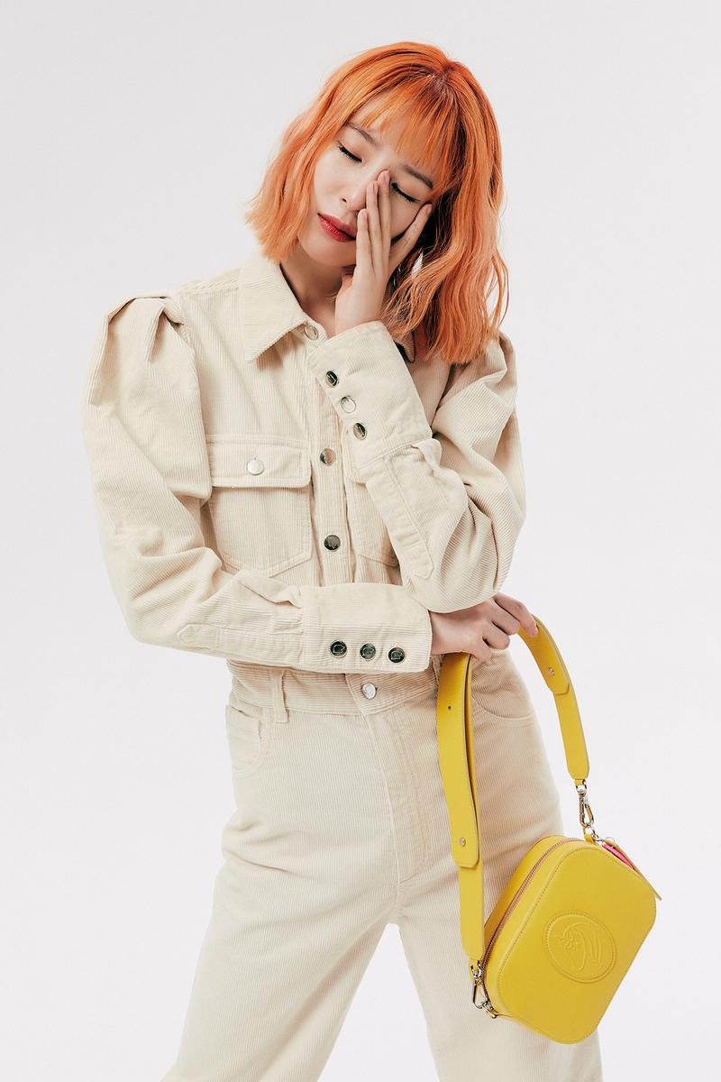 IRENEISGOOD Label Fall/Winter 2020 Collection Lookbook Jumpsuit Beige Corduroy