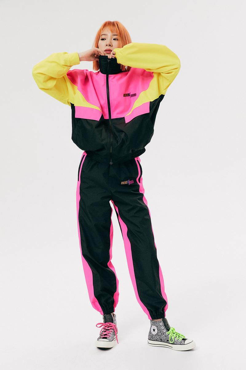 IRENEISGOOD Label Fall/Winter 2020 Collection Lookbook Tracksuit Yellow Pink Black