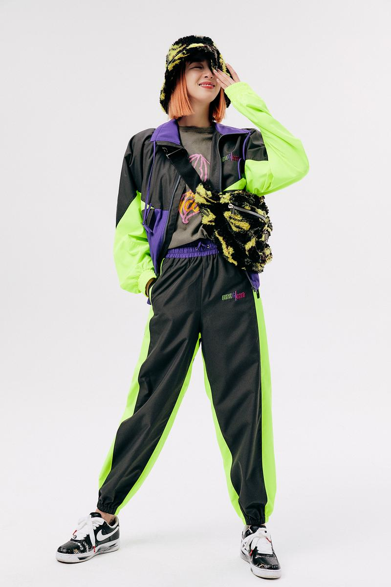 IRENEISGOOD Label Fall/Winter 2020 Collection Lookbook Tracksuit Black Green