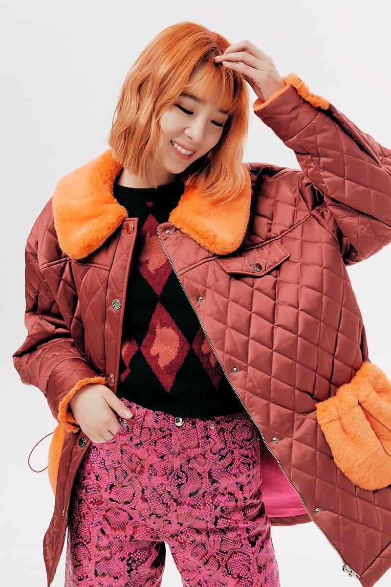 IRENEISGOOD Label Fall/Winter 2020 Collection Lookbook Quilted Coat Orange