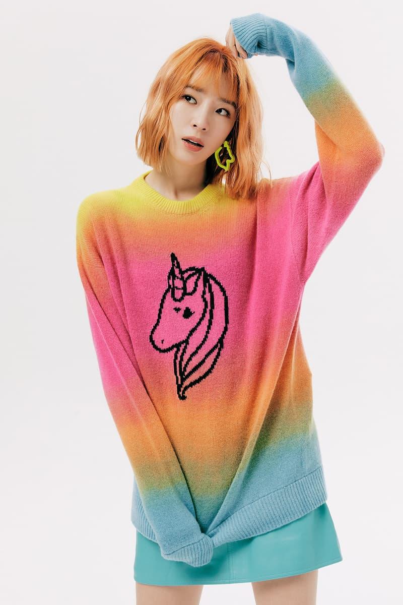 IRENEISGOOD Label Fall/Winter 2020 Collection Lookbook Unicorn Sweater Rainbow