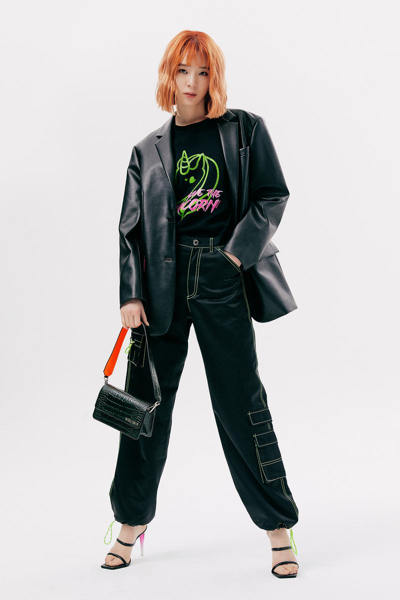 IRENEISGOOD Label Fall/Winter 2020 Collection Lookbook Leather Jacket Black