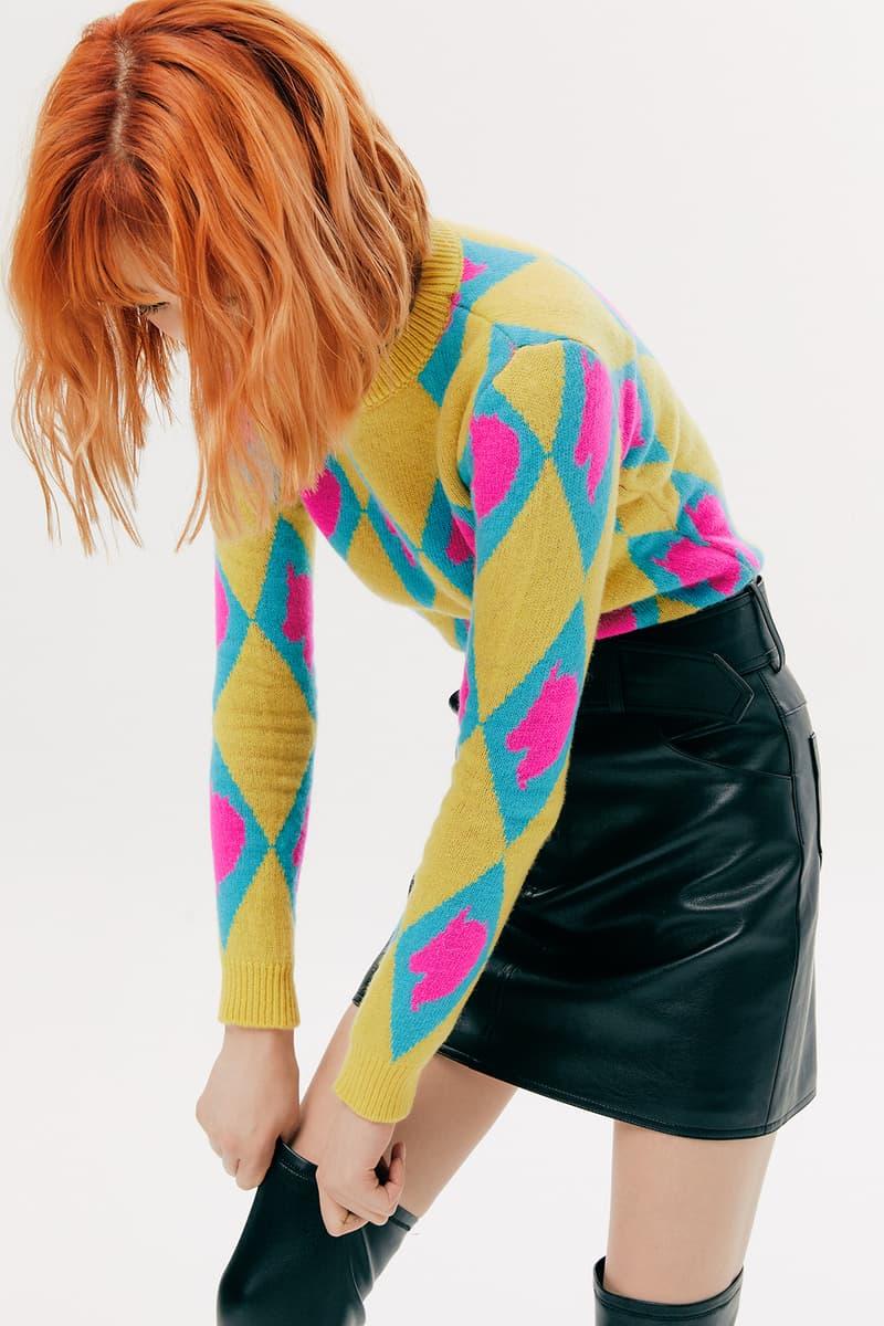 IRENEISGOOD Label Fall/Winter 2020 Collection Lookbook Argyle Sweater Unicorn