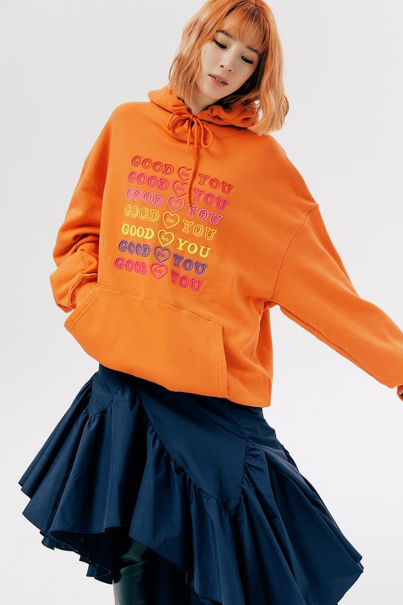 IRENEISGOOD Label Fall/Winter 2020 Collection Lookbook GOODFORYOU Hoodie Orange