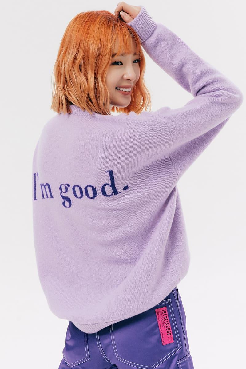 IRENEISGOOD Label Fall/Winter 2020 Collection Lookbook You Good? Sweater Purple