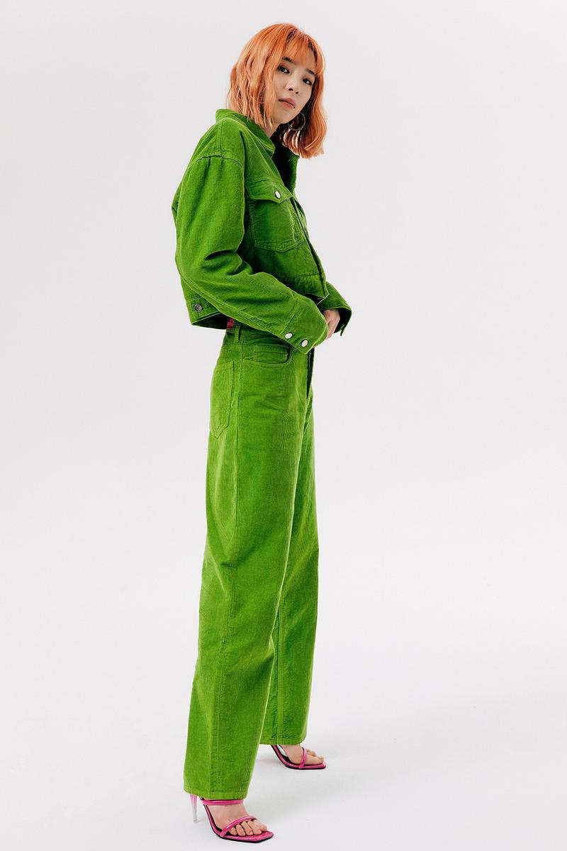 IRENEISGOOD Label Fall/Winter 2020 Collection Lookbook Corduroy Jacket Pants Green