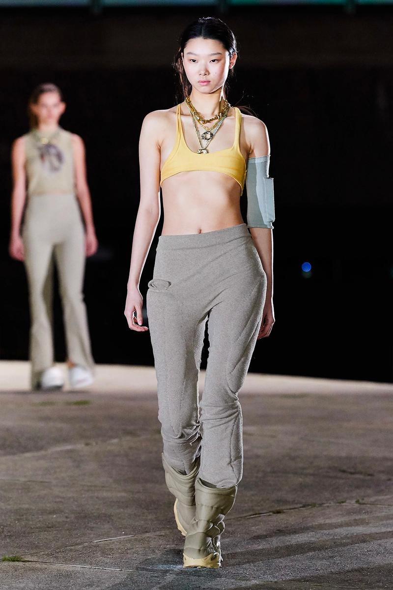 Kanye West YEEZY Season 8 Show Paris Fashion Week Runway Model mulan bae boots bralette