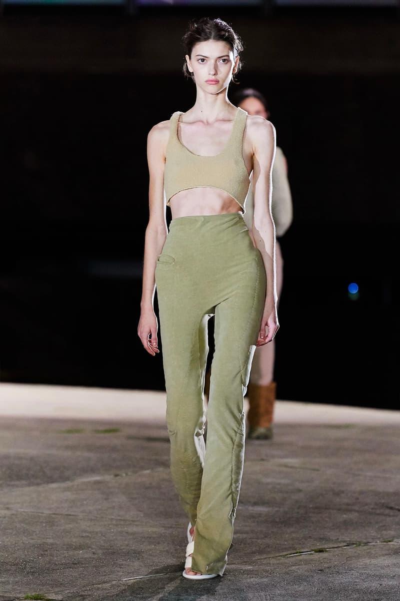 Kanye West YEEZY Season 8 Show Paris Fashion Week Runway green pants Model
