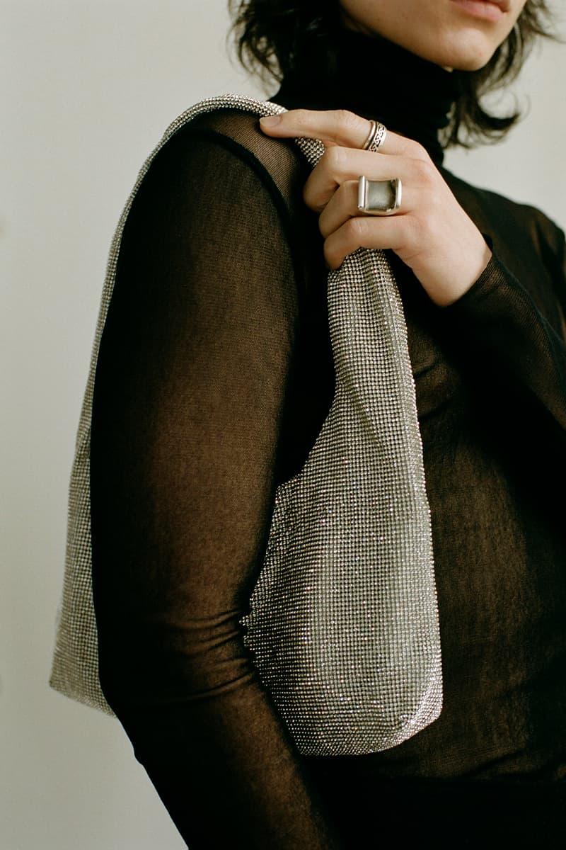 KARA D3/4 20 Collection Crystal Mesh Armpit Bag