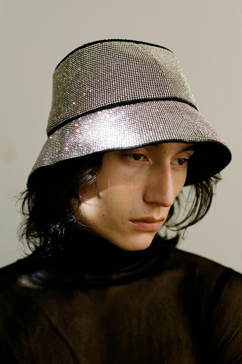 KARA D3/4 20 Collection Crystal Mesh Bucket Hat