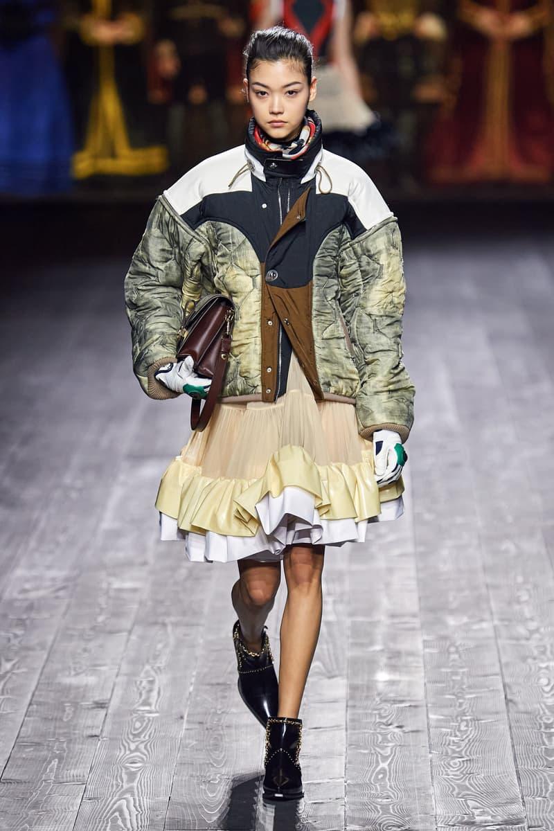 Louis Vuitton Fall/Winter Collection Runway Show Ruffle Skirt Yellow