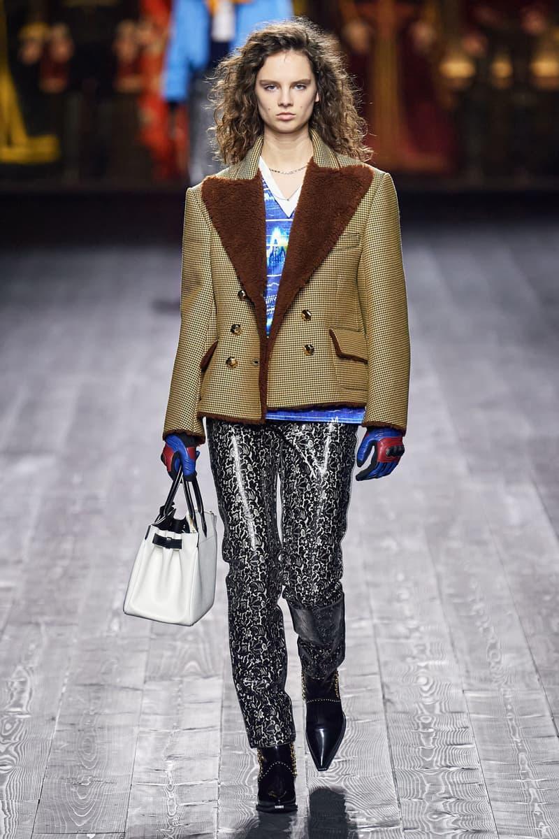 Louis Vuitton Fall/Winter Collection Runway Show Jacket Metallic