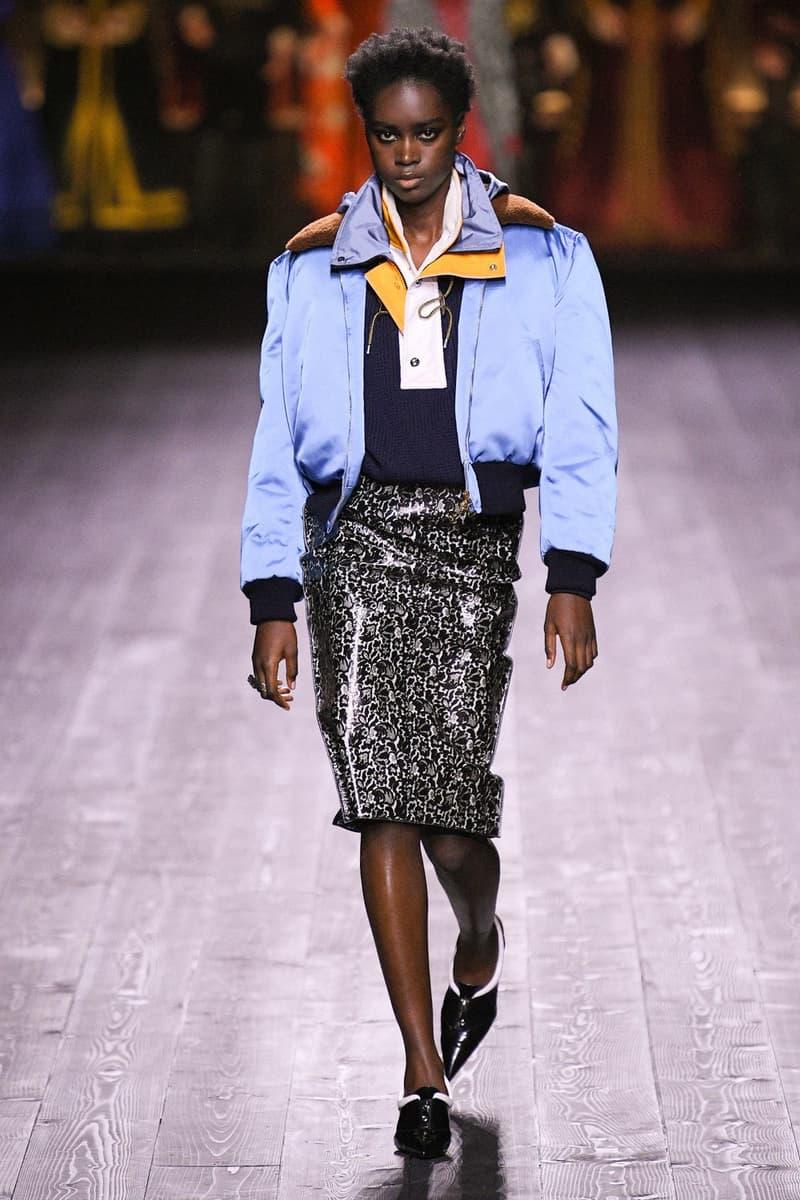 Louis Vuitton Fall/Winter Collection Runway Show Bomber Blue Silk