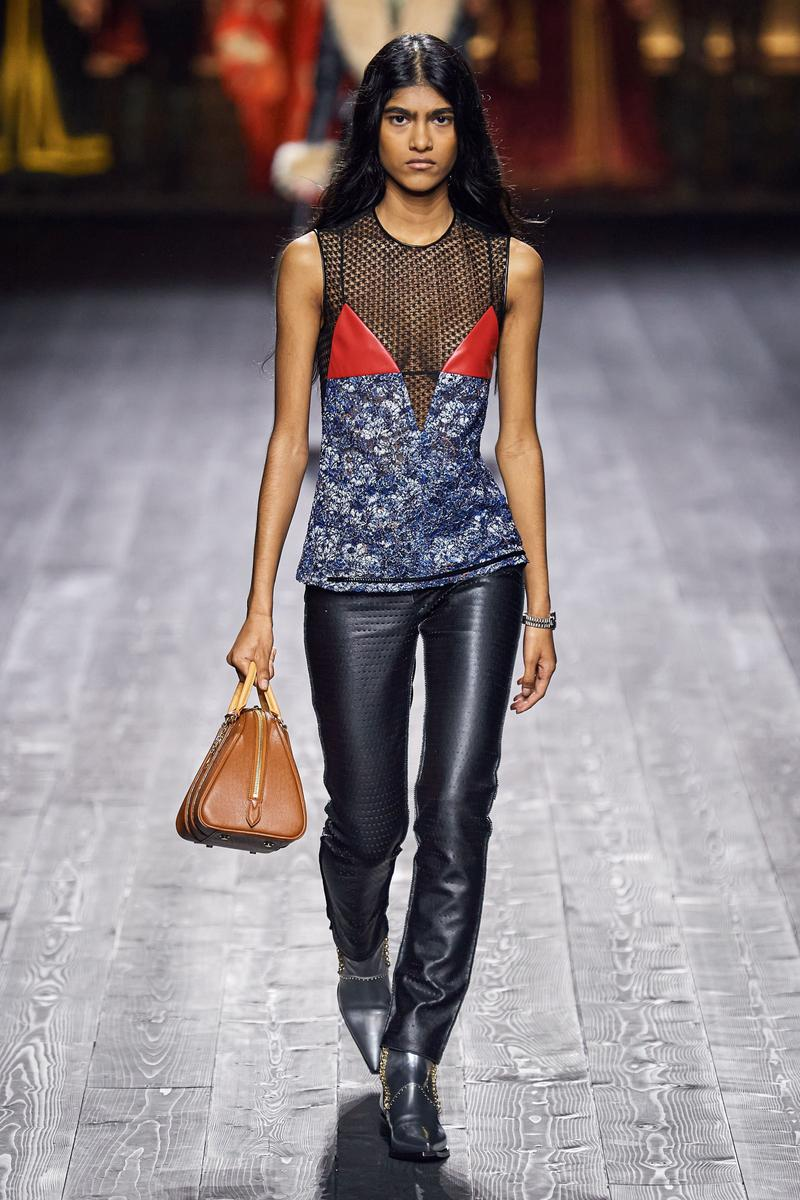Louis Vuitton Fall/Winter Collection Runway Show Sheer Top