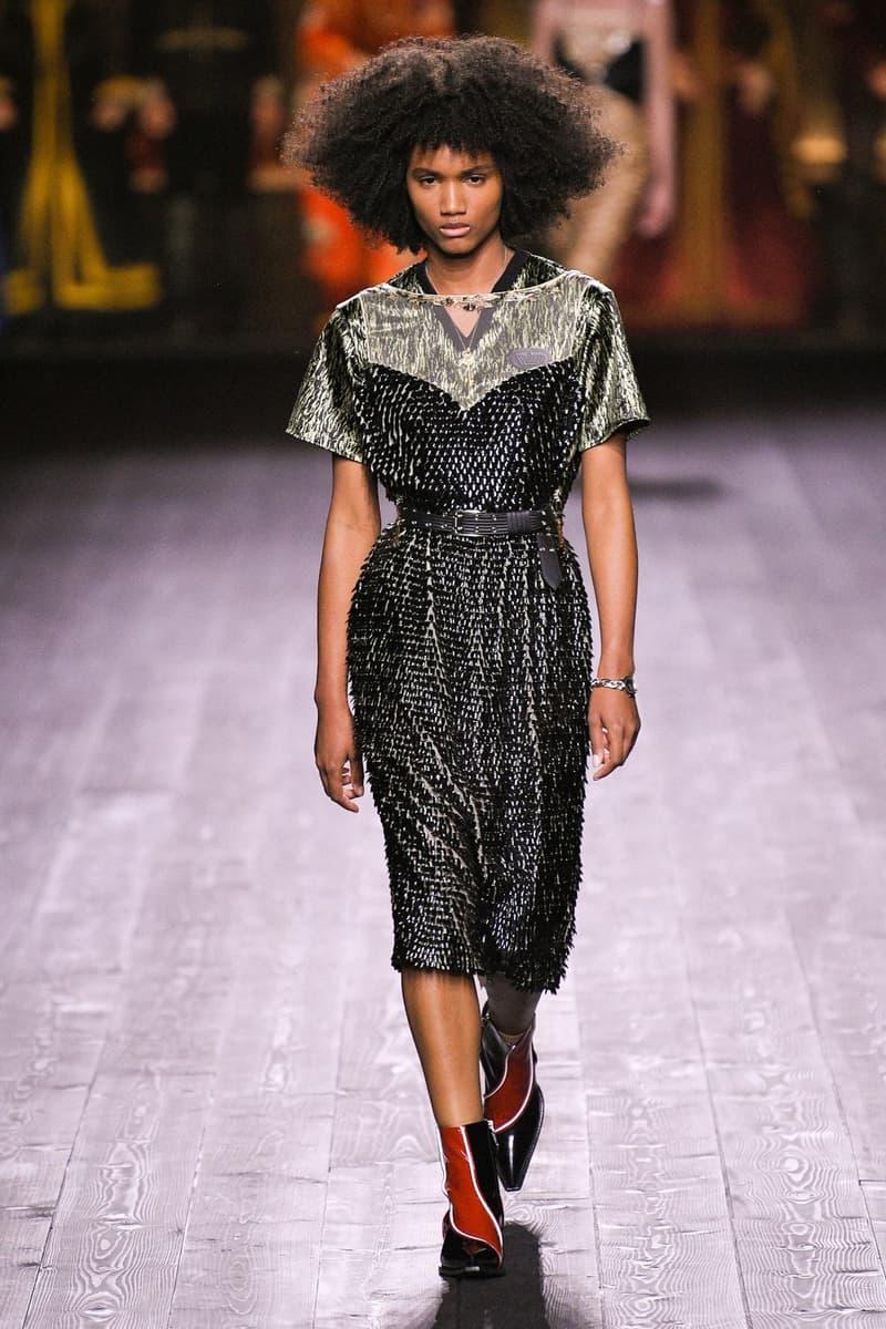 Louis Vuitton Fall/Winter Collection Runway Show Dress Black