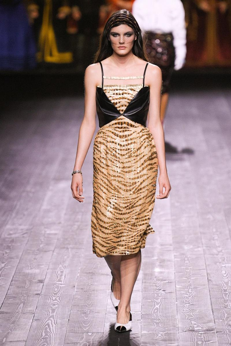 Louis Vuitton Fall/Winter Collection Runway Show Dress Corset Black