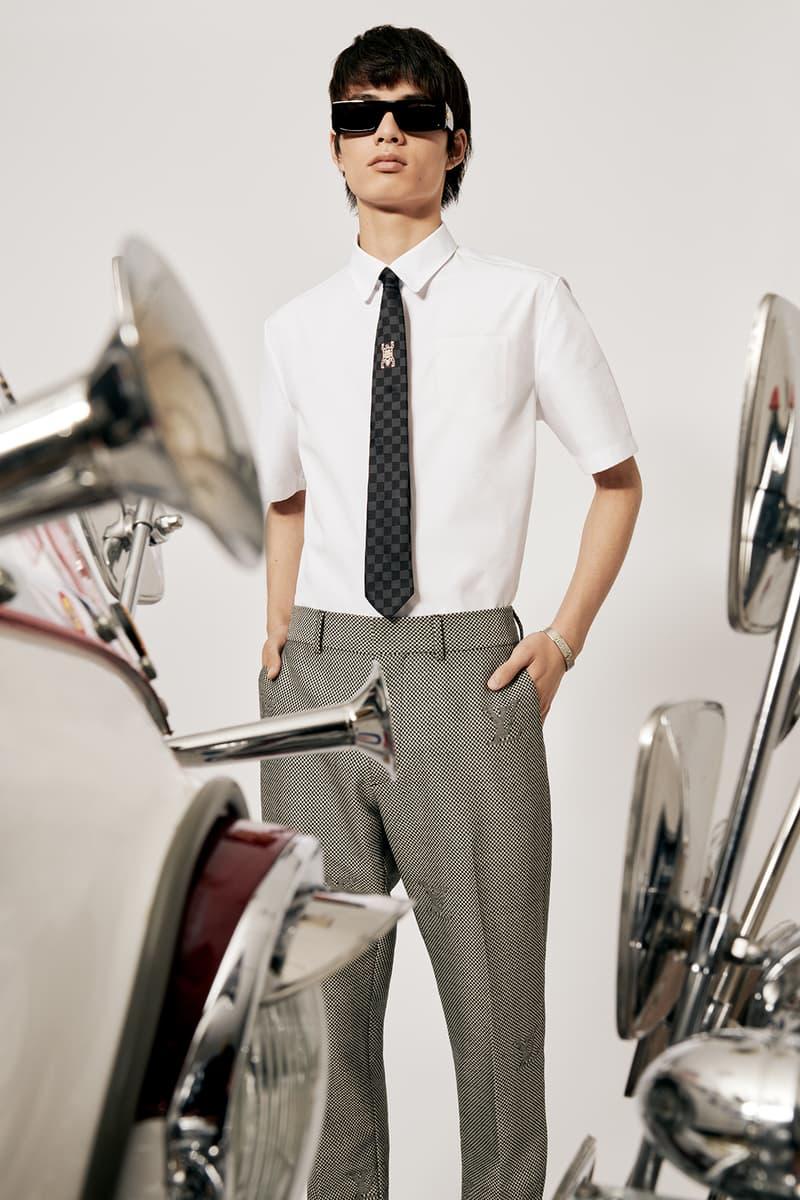 Louis Vuitton NIGO x Virgil Alboh LV2 Collection Lookbook Shirt Tie