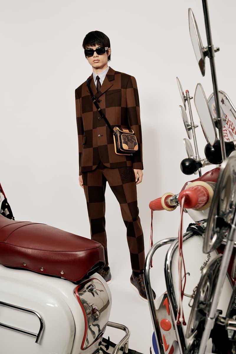 Louis Vuitton NIGO x Virgil Alboh LV2 Collection Lookbook Suit Damier Check Brown