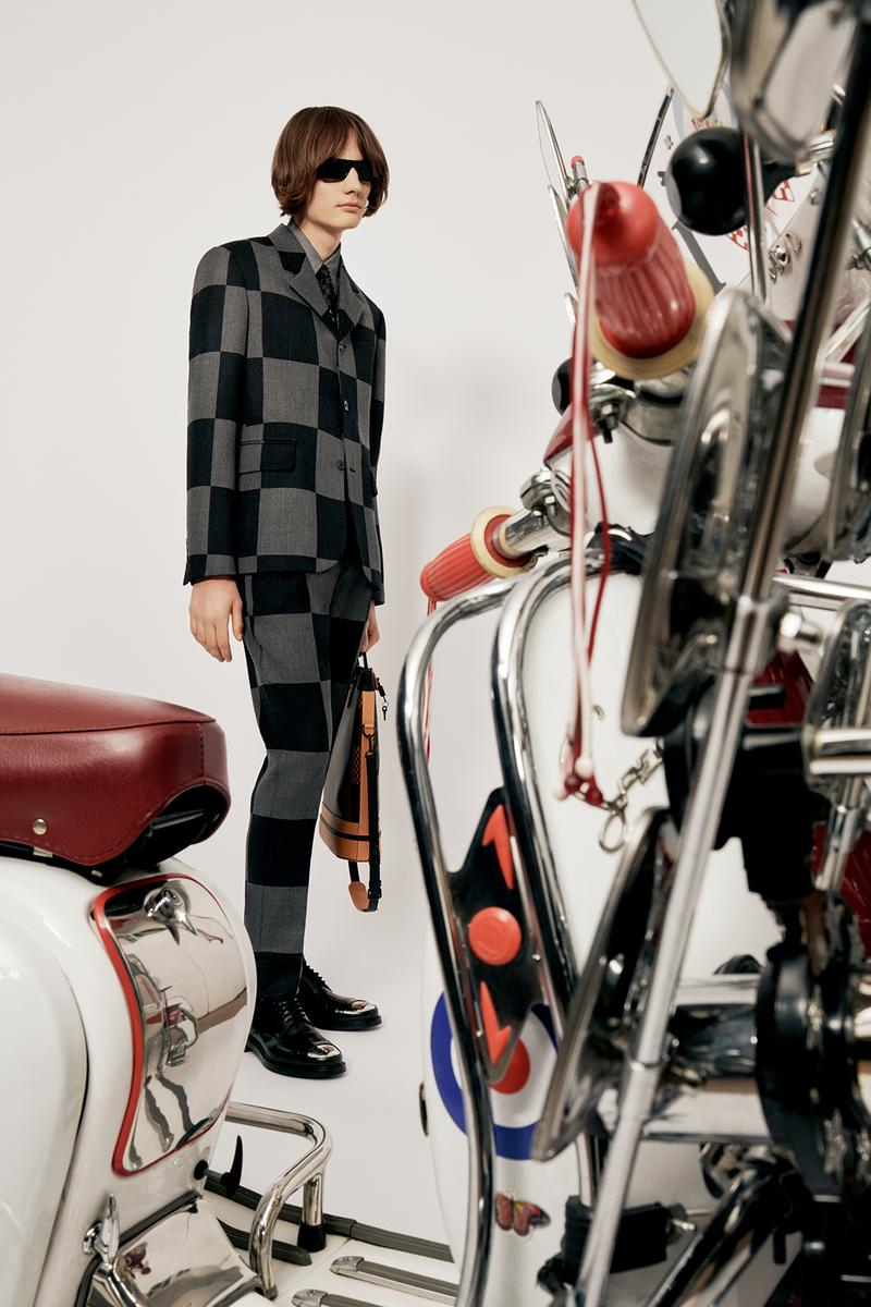 Louis Vuitton NIGO x Virgil Alboh LV2 Collection Lookbook Suit Damier Check Grey Black