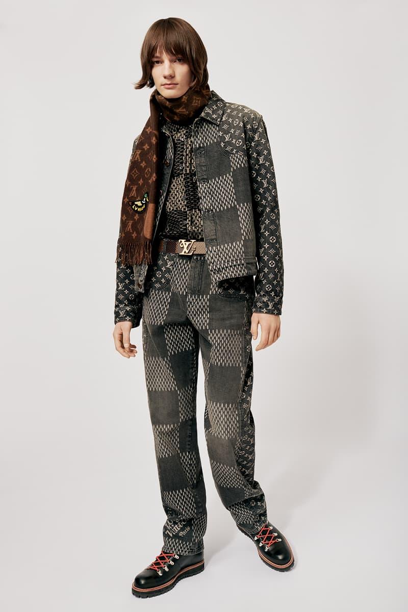 Louis Vuitton NIGO x Virgil Alboh LV2 Collection Lookbook Denim Jacket Jeans Damier Check Grey