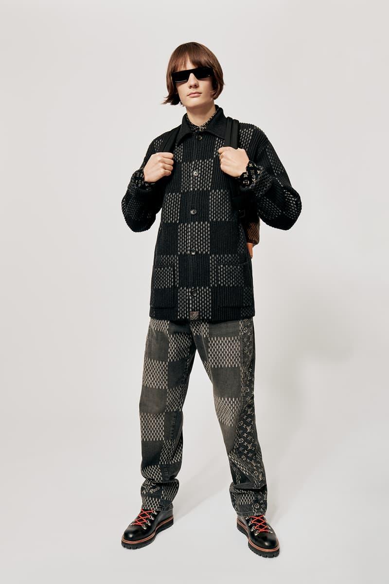 Louis Vuitton NIGO x Virgil Alboh LV2 Collection Lookbook Shirt Jeans Damier Check Grey Black