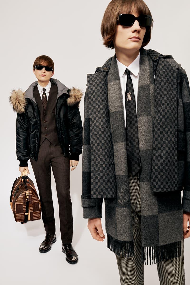 Louis Vuitton NIGO x Virgil Alboh LV2 Collection Lookbook Jacket Scarf Duffel Bag