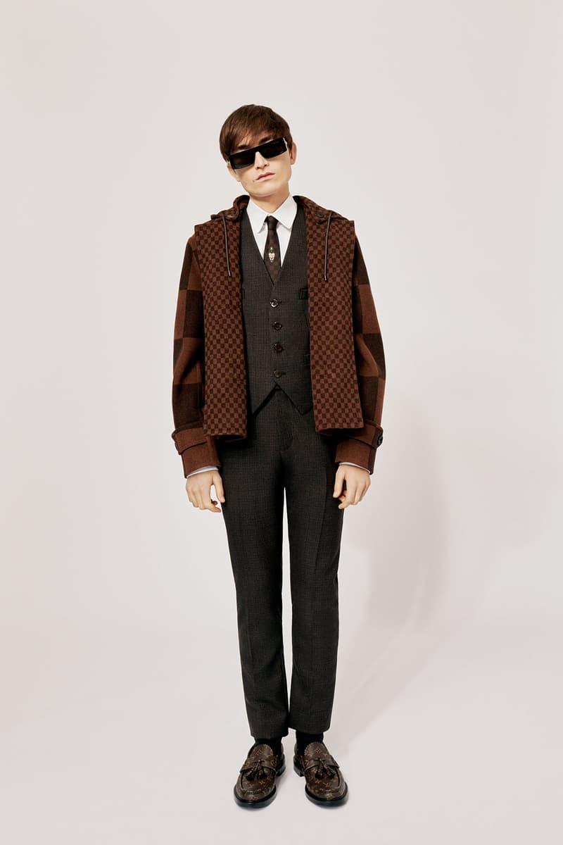 Louis Vuitton NIGO x Virgil Alboh LV2 Collection Lookbook Knit Jacket Vest Pants