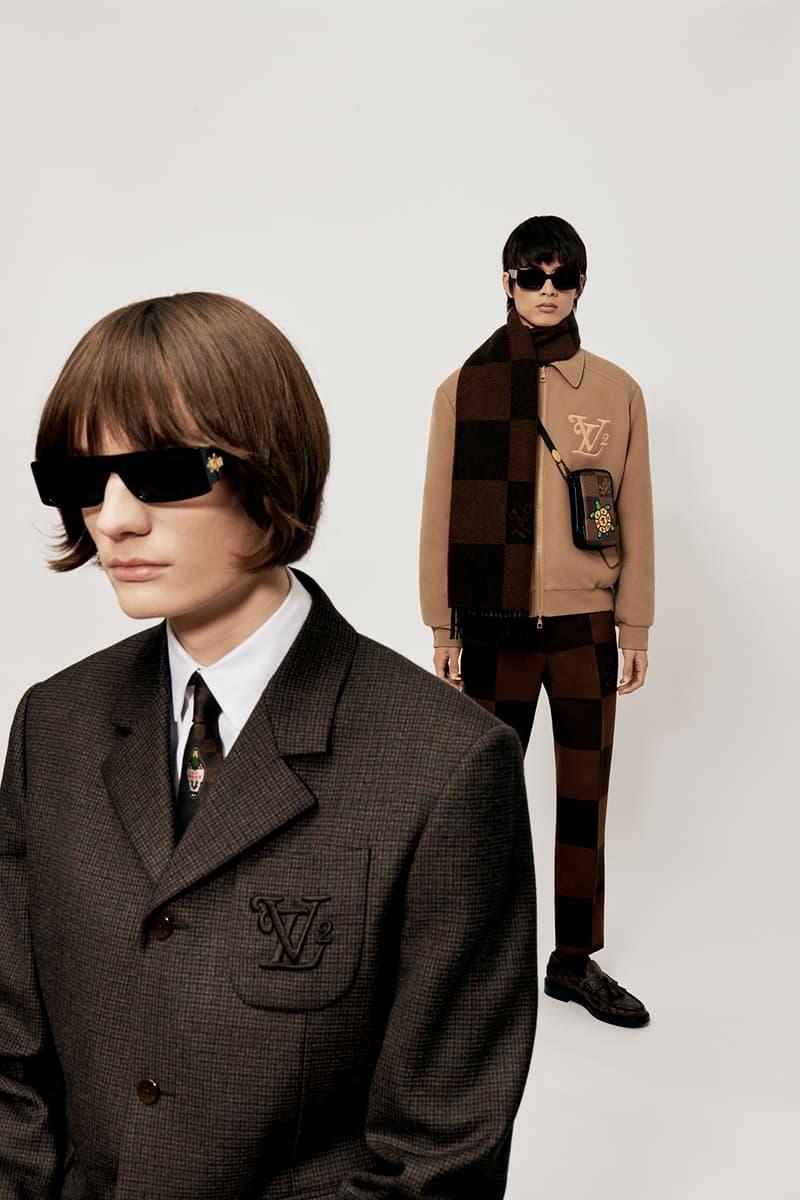 Louis Vuitton NIGO x Virgil Alboh LV2 Collection Lookbook Suit Sunglasses