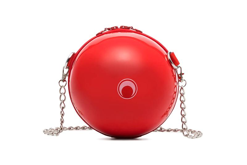 marine serre dream ball shoulder bag red spring summer collection accessories silver chain