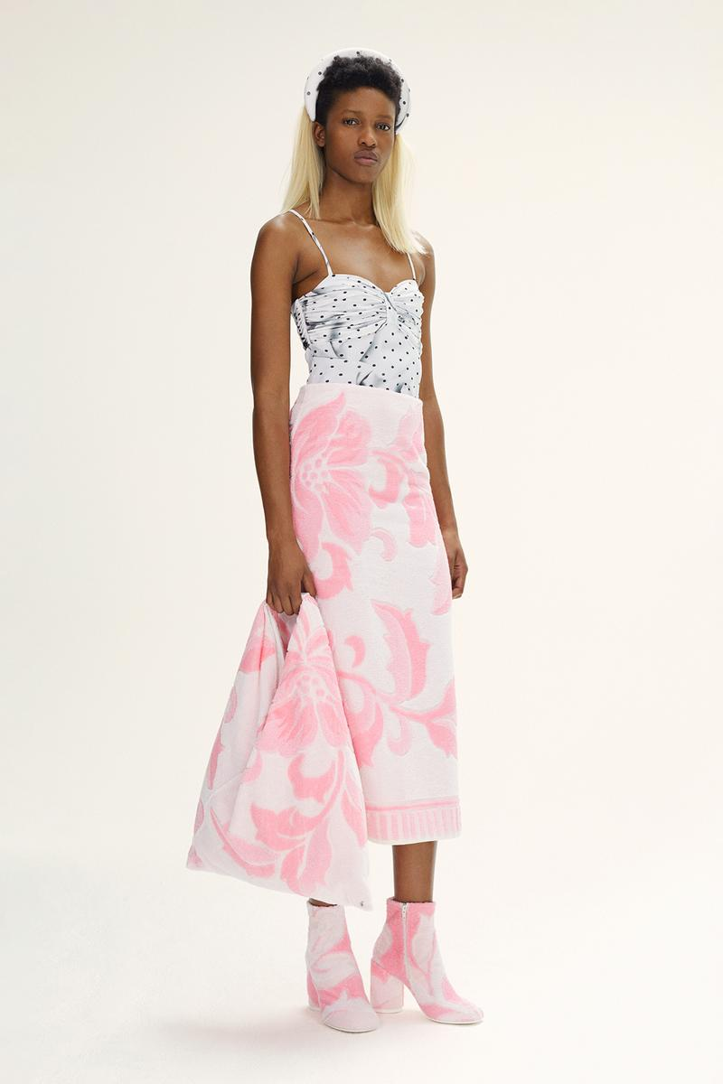 MM6 Maison Margiela Spring/Summer 2020 Collection Lookbook Towel Skirt Floral Pink
