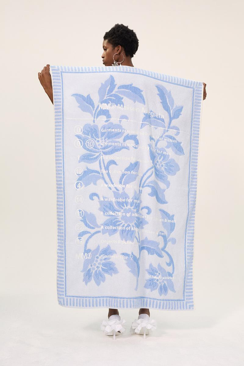 MM6 Maison Margiela Spring/Summer 2020 Collection Lookbook Towel Floral Blue