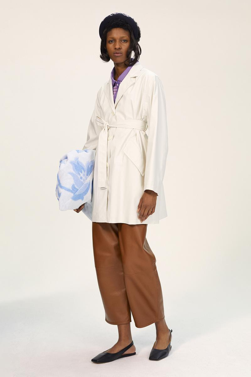 MM6 Maison Margiela Spring/Summer 2020 Collection Lookbook Wrap Coat Leather Pants