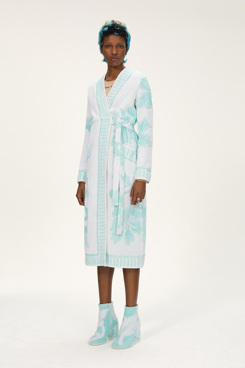 MM6 Maison Margiela Spring/Summer 2020 Collection Lookbook Robe Boots Floral Turquoise
