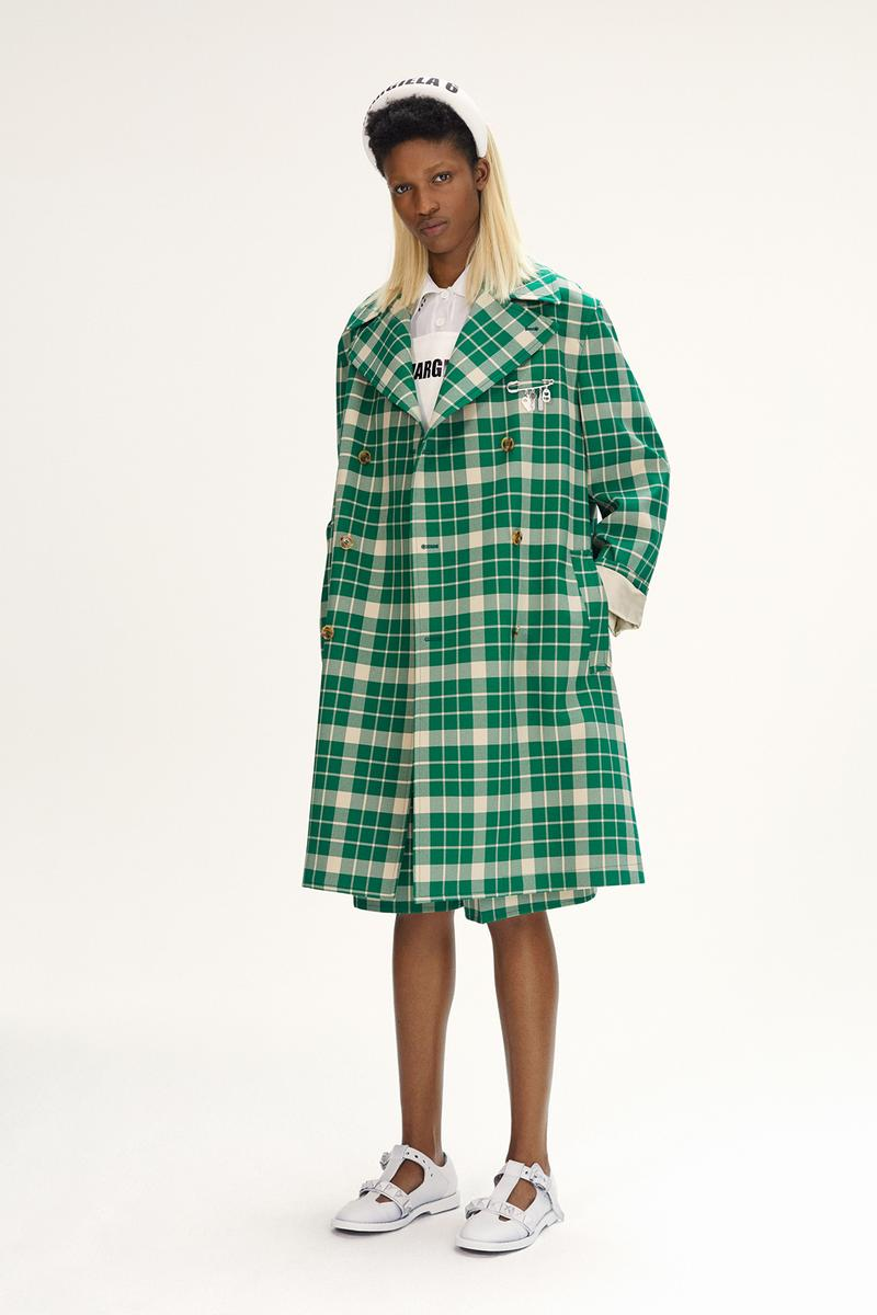 MM6 Maison Margiela Spring/Summer 2020 Collection Lookbook Plaid Green Coat
