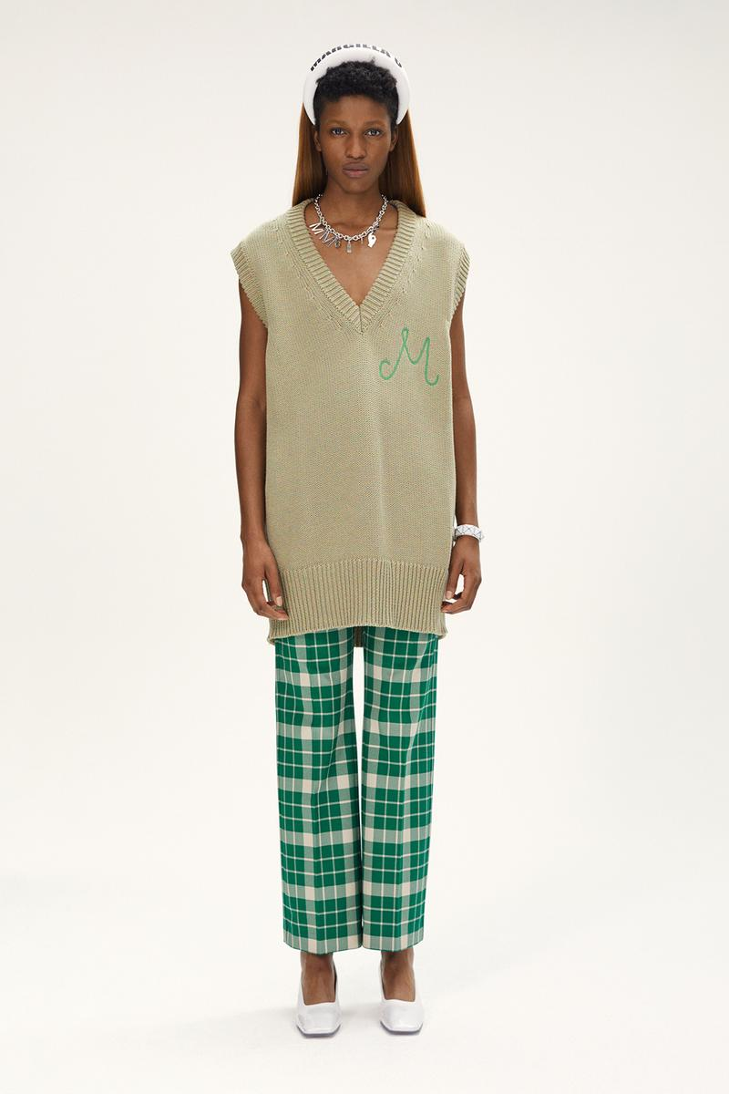 MM6 Maison Margiela Spring/Summer 2020 Collection Lookbook Sweater Vest Plaid Pants Headband