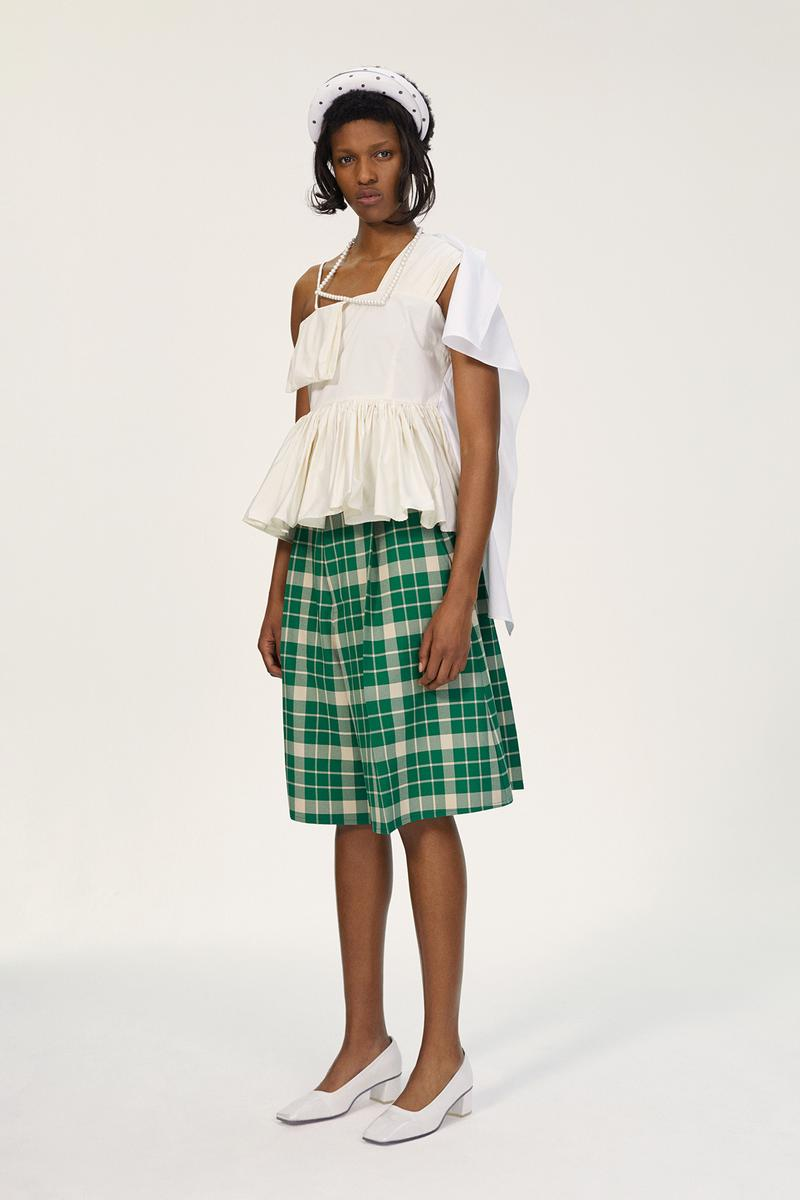 MM6 Maison Margiela Spring/Summer 2020 Collection Lookbook Plaid Shorts Ruffle Top