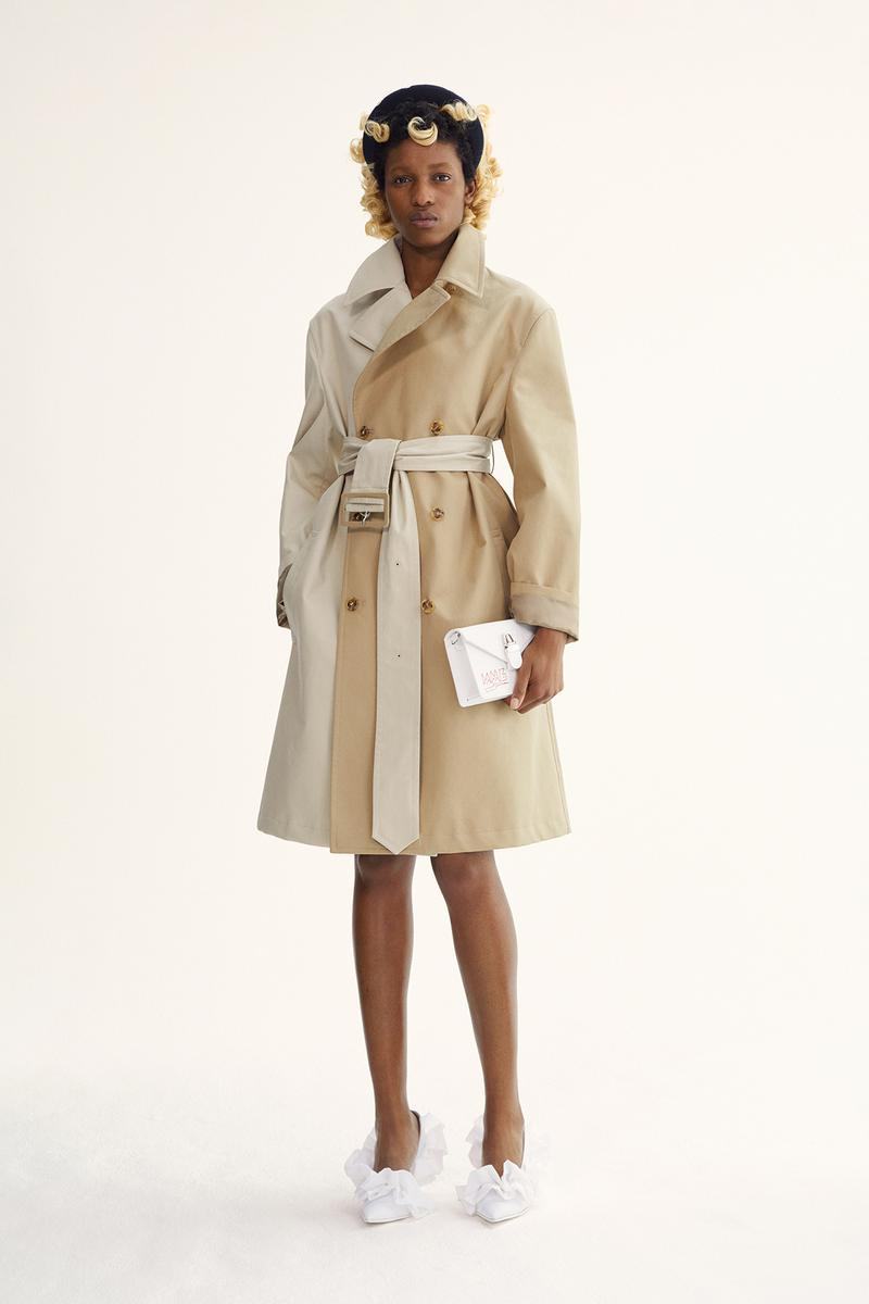 MM6 Maison Margiela Spring/Summer 2020 Collection Lookbook Trench Coat Beige