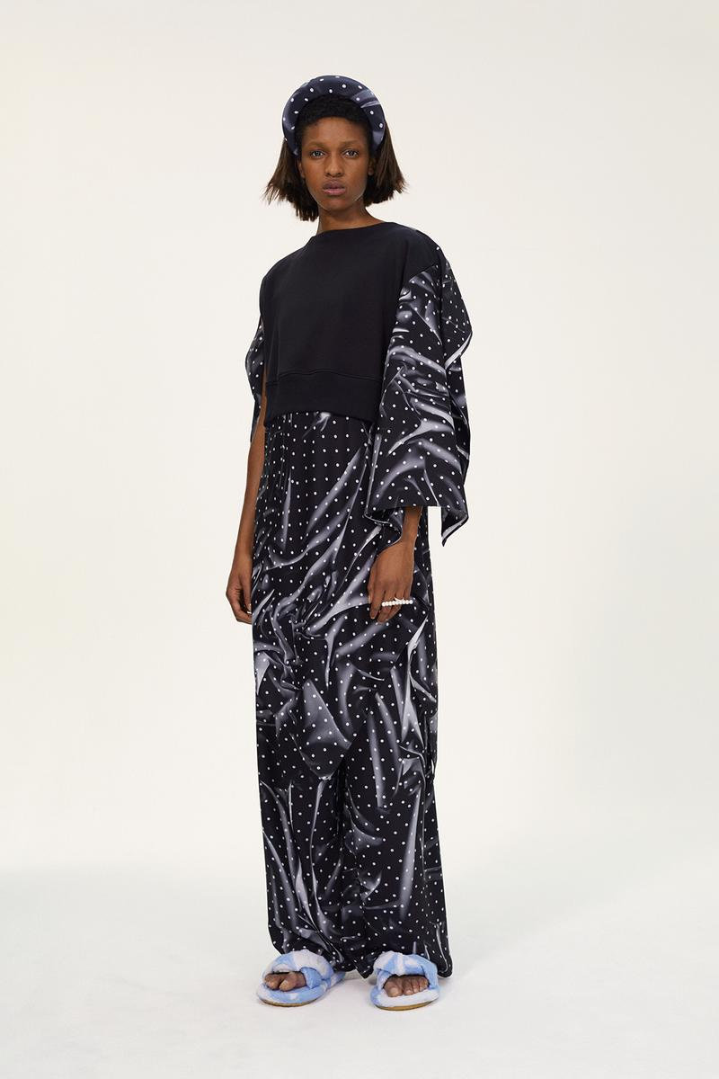 MM6 Maison Margiela Spring/Summer 2020 Collection Lookbook Draped Dress