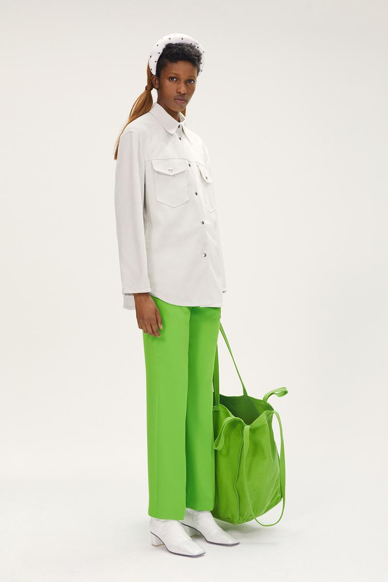 MM6 Maison Margiela Spring/Summer 2020 Collection Lookbook Button Down White Green Pants