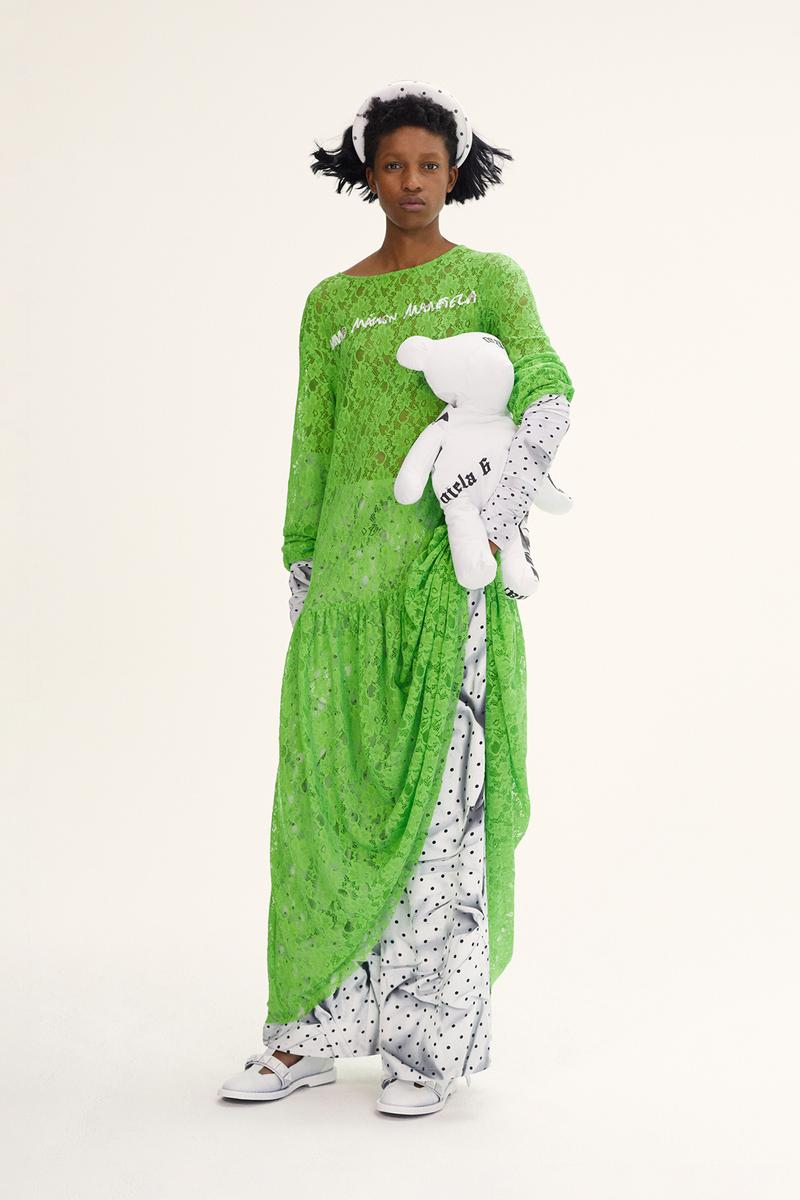 MM6 Maison Margiela Spring/Summer 2020 Collection Lookbook Lace Dress Green Padded Headband