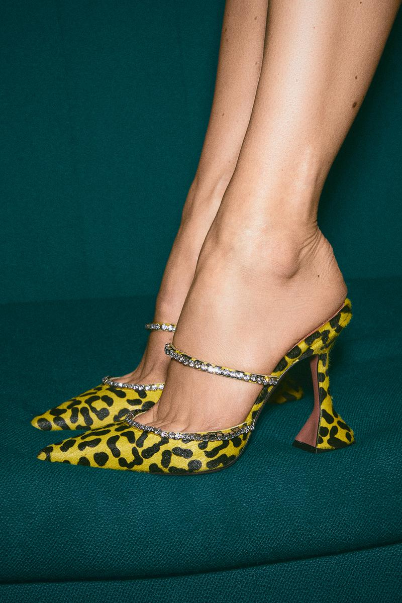 Mytheresa x Amina Muaddi Capsule Collection Gilda Mule Leopard